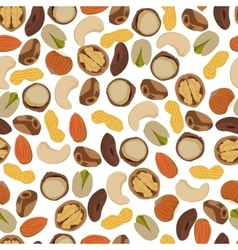 Seamless pattern nuts vector