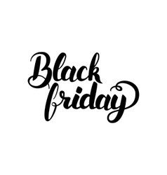 Black friday handwritten calligraphy vector