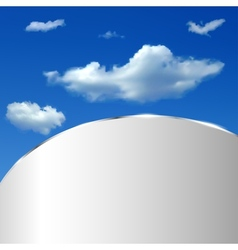 Abstract background with sky and clouds vector
