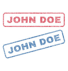 John doe textile stamps vector