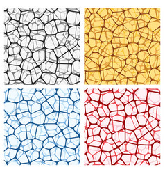 Abstract backgrounds set with nets vector
