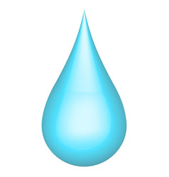 Realistic 3d water drop h2o ecology concept vector