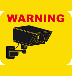 Warning surveillance tv vector