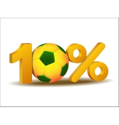Ten percent discount icon vector image