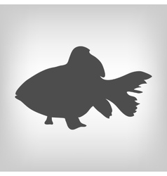 Grey fish silhouette vector