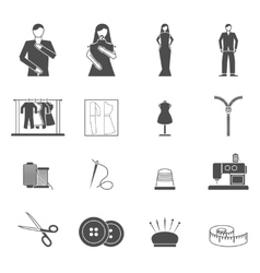 Fashion designer tools icon set vector