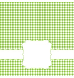 green retro frame vector image