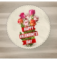 Valentines day lacy frame eps 10 vector