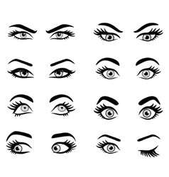 Set of cartoon eyes vector