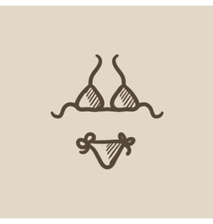 Swimsuit for women sketch icon vector