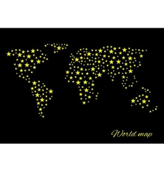 Abstract world map vector image vector image