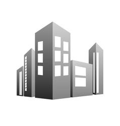 building grey vector image