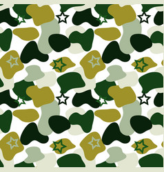 camouflage stains star shapes seamless vector image
