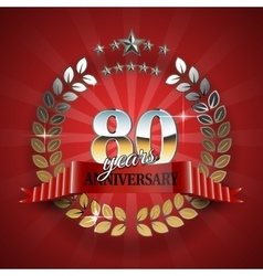 Celebrative golden frame for 80th anniversary vector