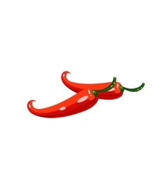 Chili pepper bright color simple vector