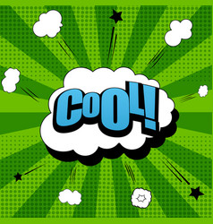 Comic cool wording background vector