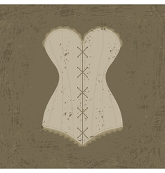Corset with lacing vector