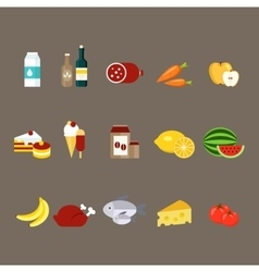 Daily products set vector