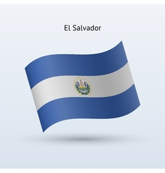 El Salvador flag waving form vector image