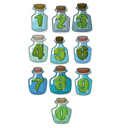 Figures in a retro bottle laboratory for vector