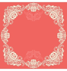 Frame of floral elements frame in gzhel style vector image vector image