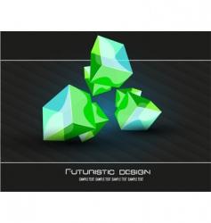 futuristic dimensional design vector image vector image