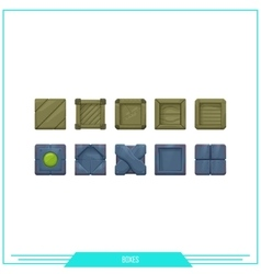 Game element boxes vector