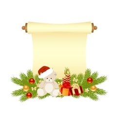 manuscript christmas vector image vector image