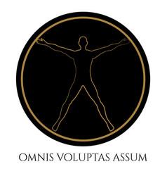 Modern vitruvian man silhouette design vector