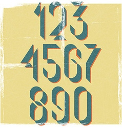 Numbers retro font design element mockup old vector