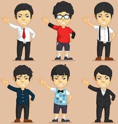 Office worker charater set vector