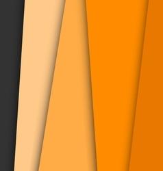 Orange overlap layer paper material design vector image