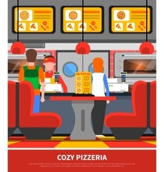 Pizzeria interior vector image
