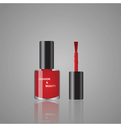 red nail polish vector image vector image