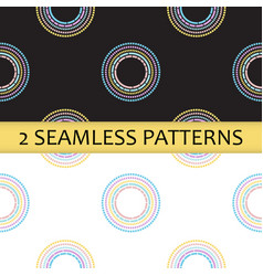 Seamless pattern with colored abstract circles vector