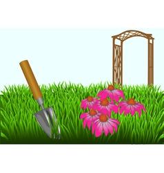 summer gardening vector image vector image