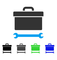 Toolbox flat icon vector