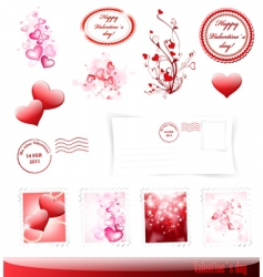 valentine day set vector image vector image