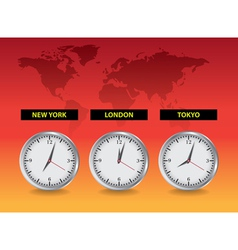 Around the world time vector image