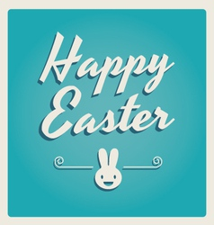 happy easter cards retro type vector image