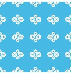 Cogs straight pattern vector