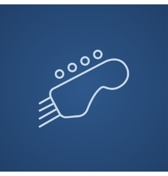Head of the guitar line icon vector