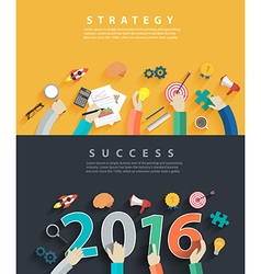 Business analysis and planning new year 2016 vector
