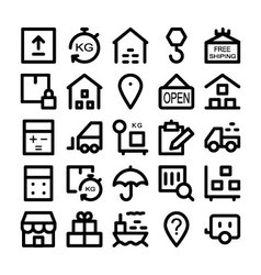 Logistics delivery Colored Icons 3 vector image