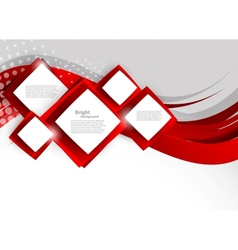 Abstract background with red squares vector image vector image