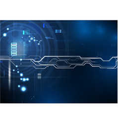 blue background circuit technology vector image