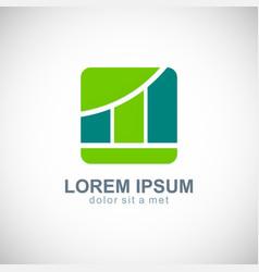 business finance progress logo vector image vector image