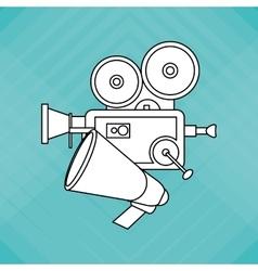 Colorful retro cinema vector