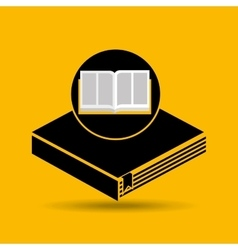 Education opened book learning vector