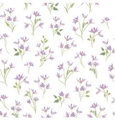 Floral ornamental white seamless pattern flower vector